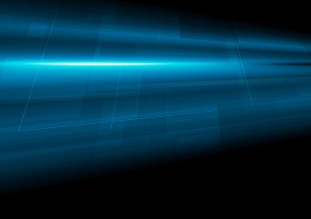 Ciemny niebieski tech ruchu streszczenie tło. projekt wektorowy