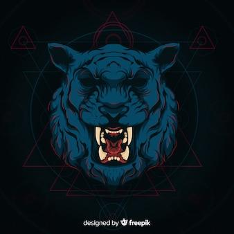 Ciemny tygrys tło