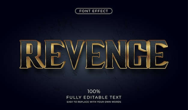Ciemny złoty efekt tekstowy 3d. edytowalny styl czcionki