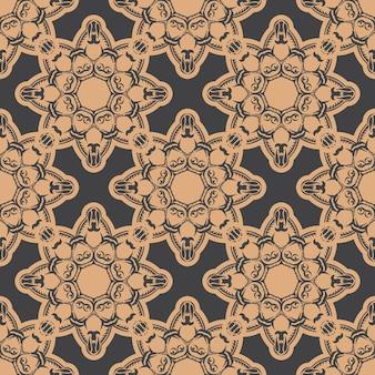 Ciemny zroszony wzór z rocznika ozdoby. indyjski kwiatowy element. ozdoba graficzna na tapetę, tkaninę, opakowanie, opakowanie.
