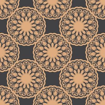 Ciemny zroszony wzór z rocznika ozdoby. tapeta w stylu vintage. indyjski kwiatowy element. ozdoba graficzna na tapetę, opakowanie, opakowanie.