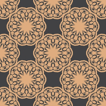 Ciemny zroszony wzór z rocznika ozdoby. tapeta w stylu vintage. indyjski kwiatowy element. ozdoba graficzna na tkaninę, opakowanie, opakowanie.
