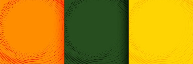 Ciepłe kolory tła półtonów w odcieniach pomarańczowej zieleni i żółci