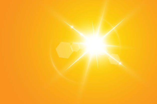 Ciepłe słońce . leto.bliki promienie słoneczne