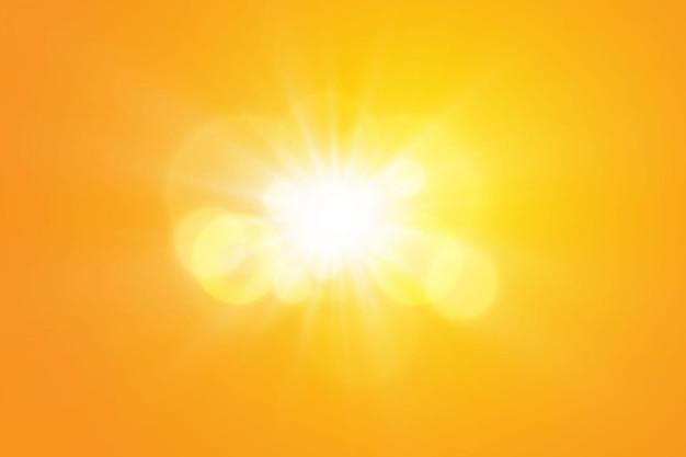 Ciepłe słońce na pomarańczowo