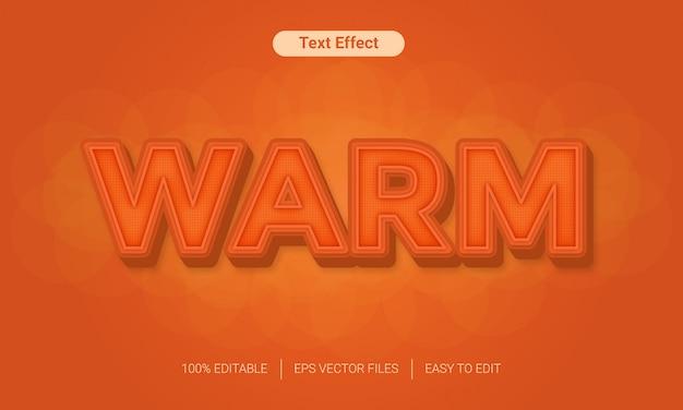 Ciepły efekt tekstowy z kolorem pomarańczowym