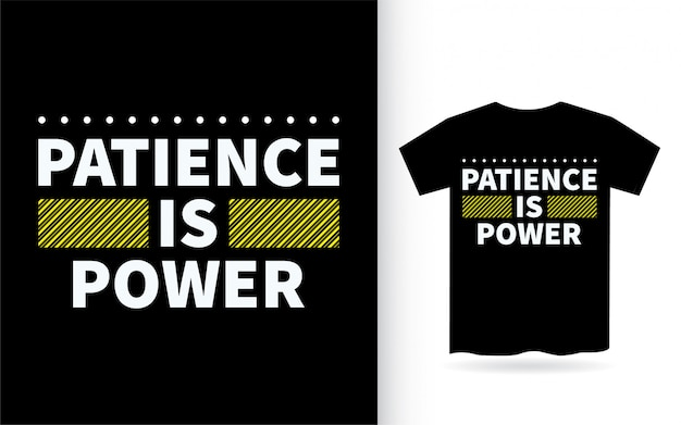 Cierpliwość to moc napisów na koszulce
