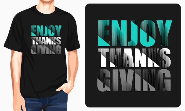 Ciesz się dzięki dając koszulki graficzne