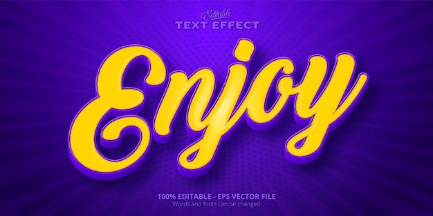 Ciesz się edytowalnym efektem tekstowym