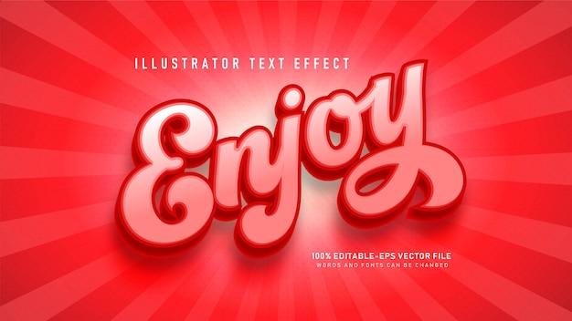 Ciesz się efektem stylu tekstu