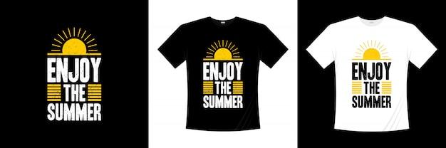 Ciesz się letnim designem typografii