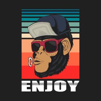 Ciesz się małpą retro