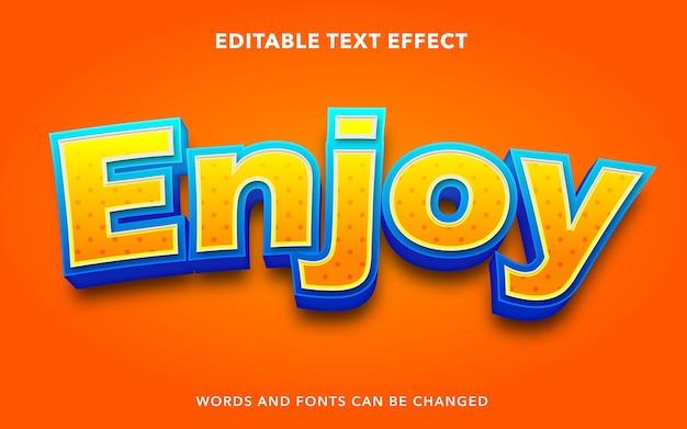 Cieszyć się edytowalnym stylem efektu tekstu