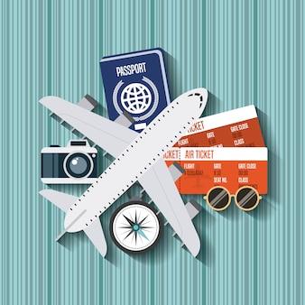 Cieszyć się wakacje podróżować ikona na białym tle