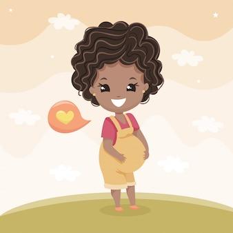 Ciężarna czarna kobieta