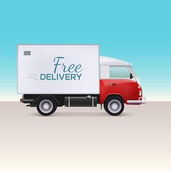 Ciężarówka dostawcza.