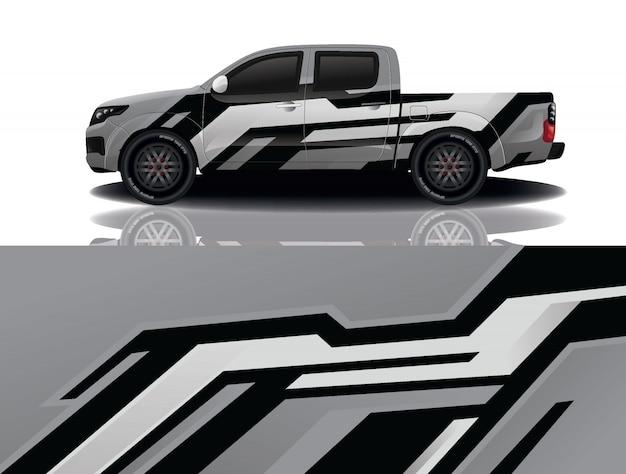 Ciężarówka naklejka samochód zawiń ilustracji