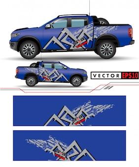 Ciężarówka naklejka wektor projektowania.