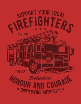 Ciężarówka strażaków