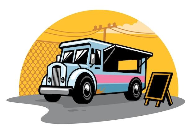 Ciężarówka z jedzeniem na ulicy