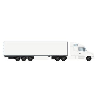 Ciężarówka z przyczepą kontenerową z chłodni