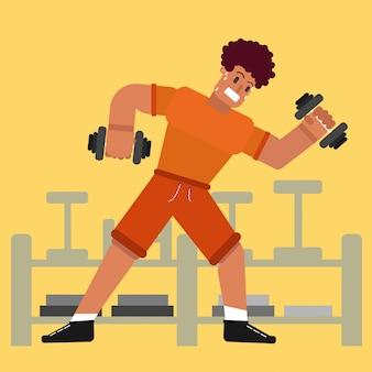 Ciężki trening w projektach siłowni bokserskich