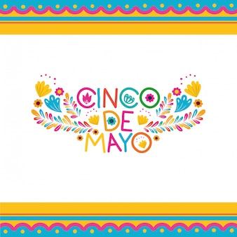 Cinco de mayo etykieta ikona na białym tle