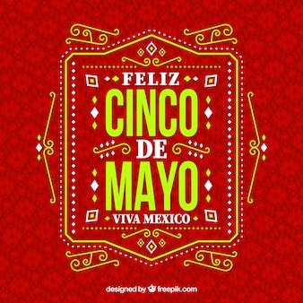 Cinco de mayo tło z ornamentami