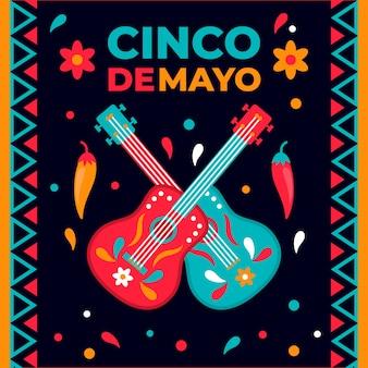 Cinco de mayo w płaskiej konstrukcji