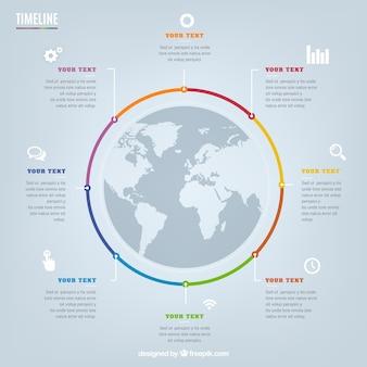 Circular timeline infografika