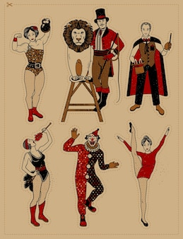 Circus vintage collection.