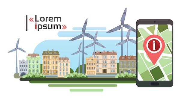 City navigation concept cell smart phone