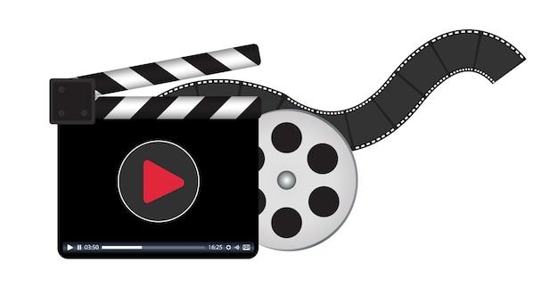 Clapperboard z logo przesyłania strumieniowego wideo