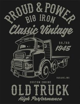 Classic vintage truck