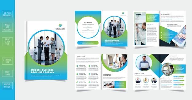 Clean modern 08 stron broszura biznesowa projekt