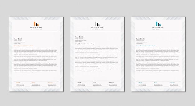 Clean modern business letterhead design