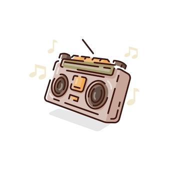 Clipart radiowy na białym tle