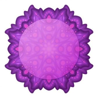 Clipart z fioletowym abstrakcyjnym pojedynczym projektem