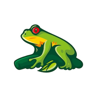 Clipart żaba na białym tle