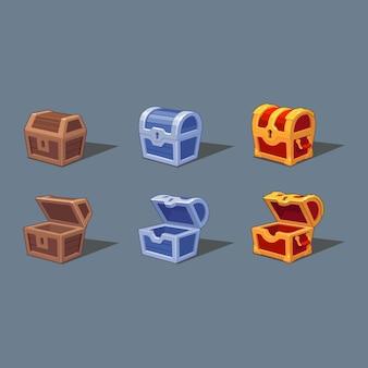 Clipartów ilustracji pudełko skarbów