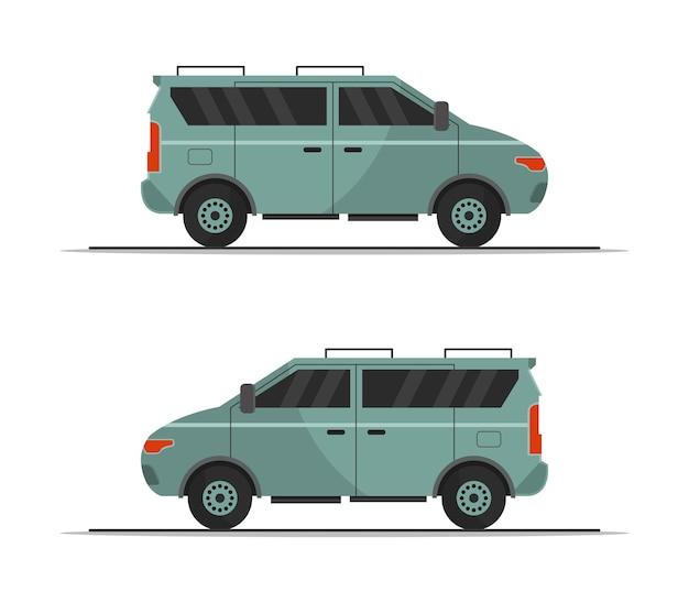 Clipartów van na białym tle