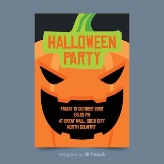 Close-up halloween party płaskie ulotki