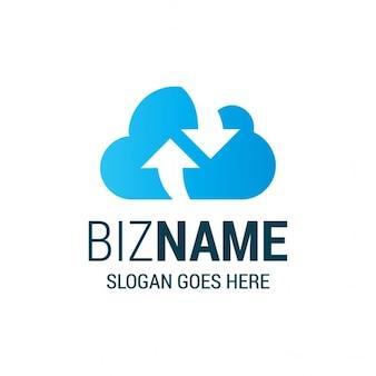 Cloud and storage sync logo