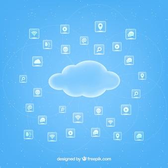 Cloud computing infografika koncepcji