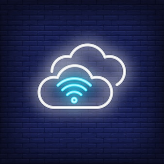 Cloud computing neon znak