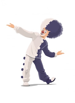 Clown, wielki klaun shapito cyrkowy w peruce