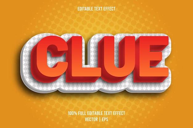Clue edytowalny styl komiksowy z efektem tekstowym