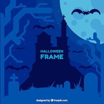 Cmentarz tle w niebieskim dzwonka