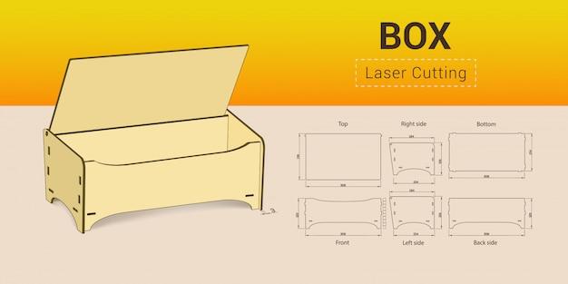 Cnc. laserowe pudełko do cięcia.