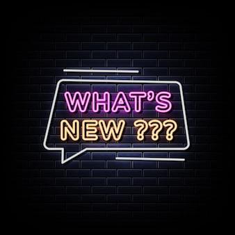 Co nowego tekst w stylu neonów
